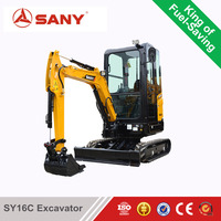 SANY SY16-2 1.5 tons Construction and Garden Usege Mini Hydraulic Crawler Excavator