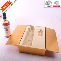 Decorative plastic insert luxury wine gift box for packaging with OEM design