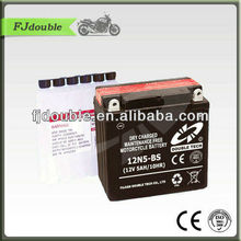best price 12v 5ah Dry Charge Motorcycle Battery,trolling motor battery