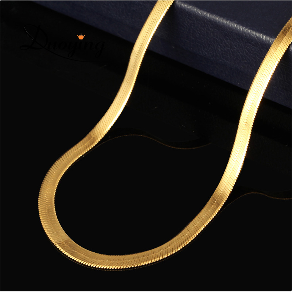 Winter Sweater Snake Chain Wholesale Men's Gold Neck Chain Designs Vacuum Plated 18k Gold Jewelry Fancy Long Chain <strong>Necklace</strong>