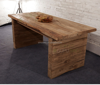 Industrial furniture Antique reclaimed wooden dining table old elm