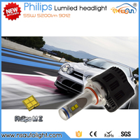 Newsun wholesale super bright 9012 H4 H7 Xenon white 4000K 5000K 6000K led car headlights kit light