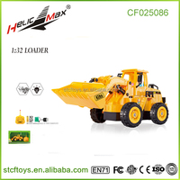 new products 1:32 five channel loader Wireless remote control Bulldozer rc car Charging excavator Children's toy trucks for sale