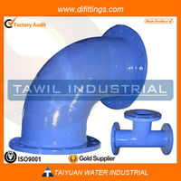 TAWIL ductile iron 90 deg double flanged bend