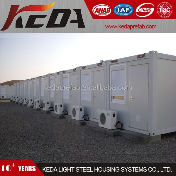 Prefabricated House Container Module As Temporary Site Office Accommodation