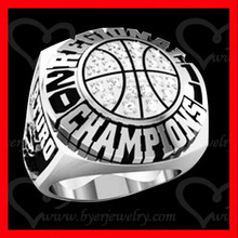 unique basketball championship ring sports jewelry with AAA cz setting