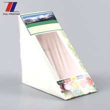 Food grade sandwich paper board box sandwich china triangular packaging for kids