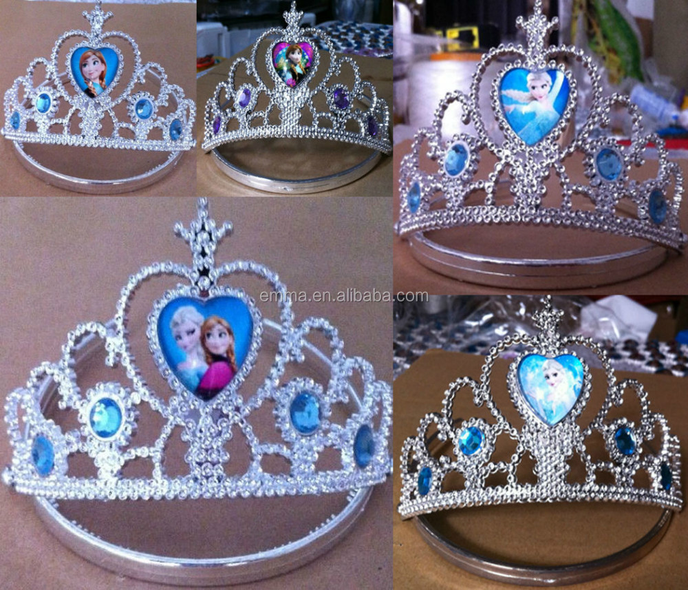 Frozen princess anna and elsa crown for carnival party high quality elsa tiara CWT2012