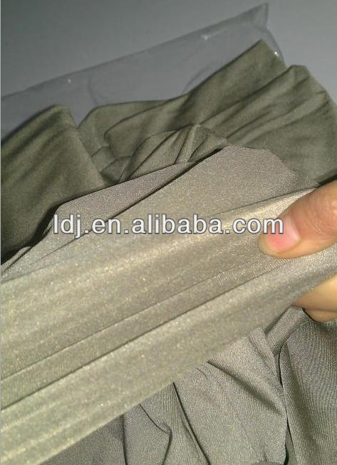 Strechy silver fiber four-way elastic functional knitted fabric