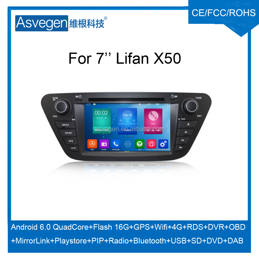 Wholesale Android Car DVD Player For 7'' Lifan X50 Support Radio Wifi Playstore With Auto Spare Parts Car