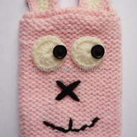 Knitted Cell Phone Case Bunny