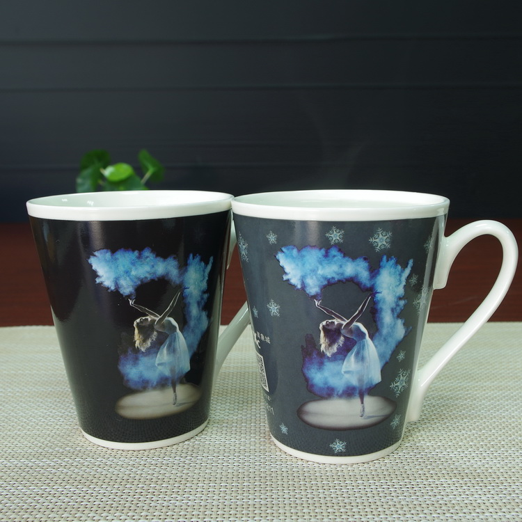 Factory sales promotional items magic color changing enamel mugs wholesale