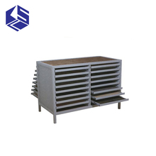 Tile showroom display double rows drawer ceramic display stand