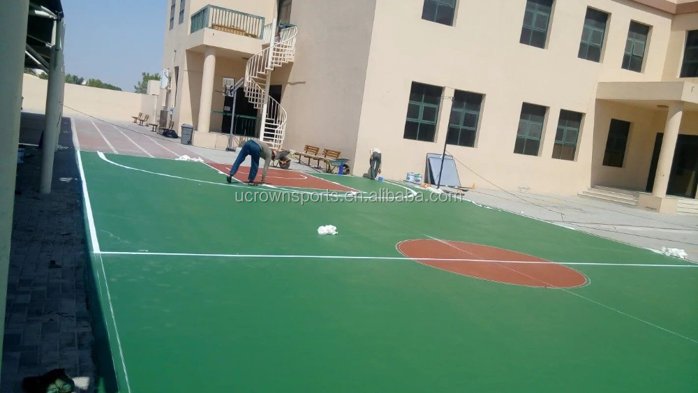 Portable volleyball court sports flooring in good performance