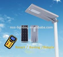 Smart high lumens all in one solar led street light for countryside