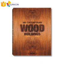 Custom Made Logo and Color Wooden Book, building Industry publications collection catalog