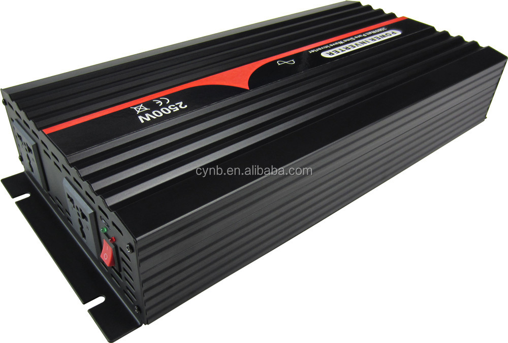 DC48V to AC120V 60Hz 2500W Pure Sine Wave Power Inverter