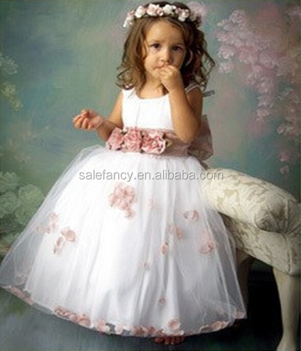 casual baby girl dresses flower girl dress of 9 years old QGD-2088