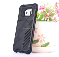 PC and TPU hybrid combo case for Samsung galaxy S6 Edge