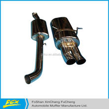high quality exhaust system ss bending pipe polished exhaust system muffler