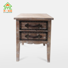 INDUSTRIAL VINTAGE FURNITURE INDIAN RECYCLED WOOD AND TIN SIDEBOARD FURNITURE