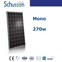 TOP 10 solar panel supplier in China!High quality and efficiency pv module 270w mono solar module
