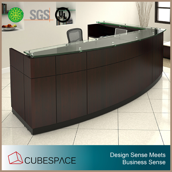 modern reception furniture reception desk design front counter desk reception with galss top