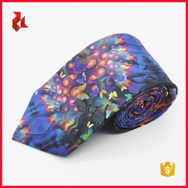 Free Sample 100% Silk Digital Printed Ties for Men
