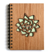 2016 most popular wooden cover notebook gift