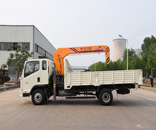 5 Ton truck mounted crane, Dongfeng truck with straight or folding arms