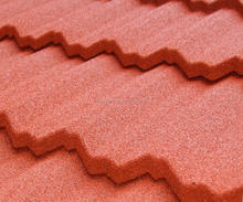 China good quality Rose manufacture stone coated roofing tiles as Korean materials