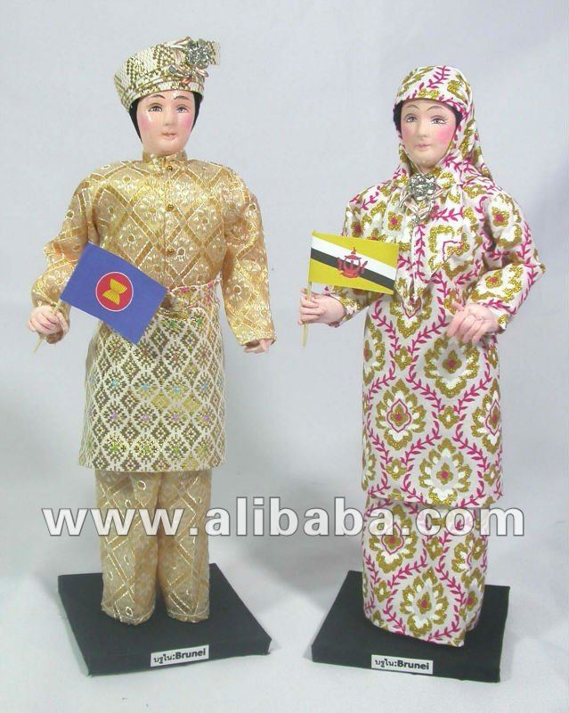 Brunei Dolls in Traditional Costume