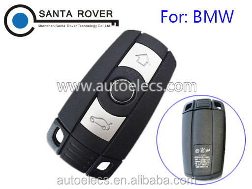 For B MW 1 3 5 6 7 Smart Remote Key Case 3 Button No Battery Cover