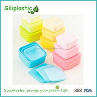 100% food grade plastic PP colorful heat resistant lunch box