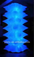 AttractiveTube Inflatable LED cone chestnut straight cone