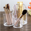 Acrylic Makeup Brushes Holder, Cylinder With 3 Holders