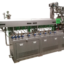 Plastic bottle flakes recycling twin screw extruder machine
