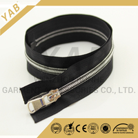 factory direct high quality 7# special nylon zipper black tape white teeth