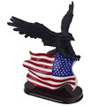 Hot Sale American Flag Eagle Table Sculpture For Black Eagle Statue