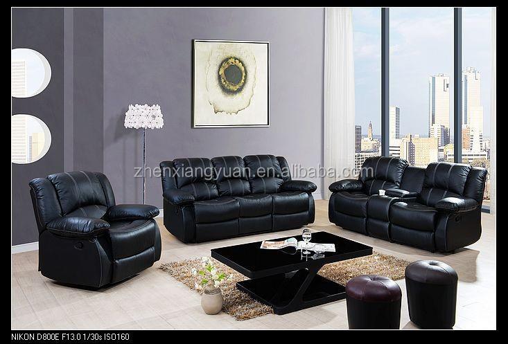 2017 esquina sof reclinable de cuero muebles de sala con - Sillones de esquina ...