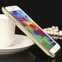 fancy frame rhinestone beads diamond bumper case for iphone 5