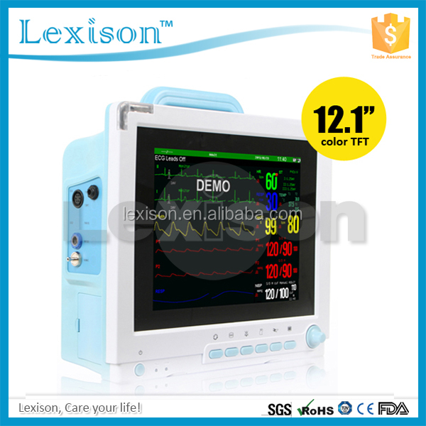 12.1 inch Touch Screen Multiparameter Patient Monitor with Optional Wifi Central Monitoring System(PPM-S6900S)