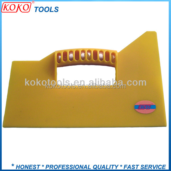 Yellow color ABS putty knife plastic blade plastic pastry scraper