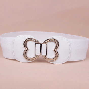 wp1041a Women Lovely Elastic Waist Belt with butterfly Buckle