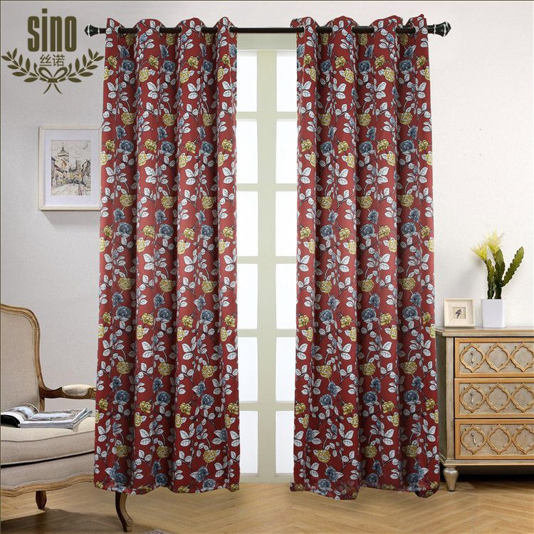 Latest Curtain Designs 2016 Custom Curtains Fabric Style 100% Polyester Printed Curtains For Living Room And Home