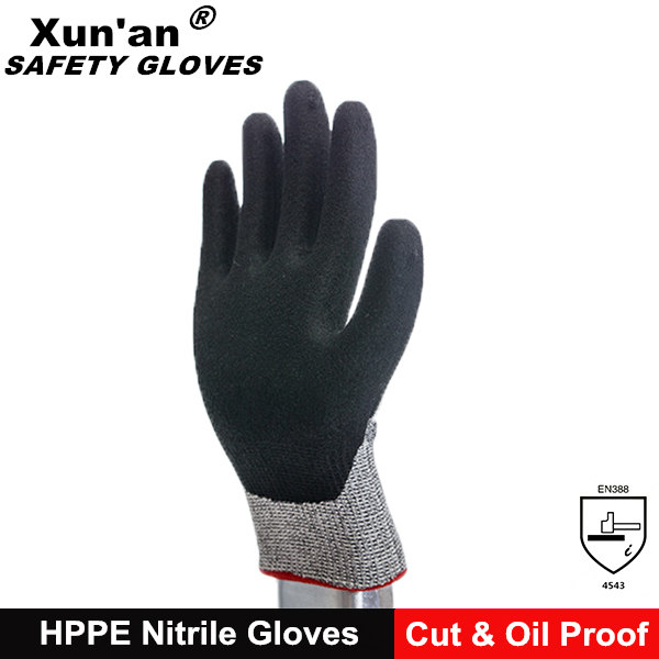 Hot sale hppe anti-cut finger protection nocry cut resistant gloves