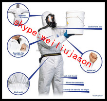 PP/SMS/SF disposable coverall with hood for men for hospital