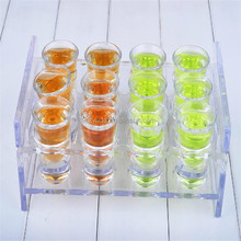 Custom pop Clear classy Acrylic 12 cups drinks beverage display Rack stylish plexiglass lucite pmma cup drink stand