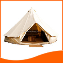Heavy duty fireproof army canvas tent with stack nozzle