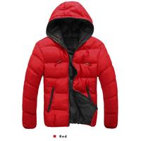 Winter Men Hoodies Jacket Thicken Fashion Men Casual Keep Warm Jacket Coat Men Windbreaker Sports Down Jacket